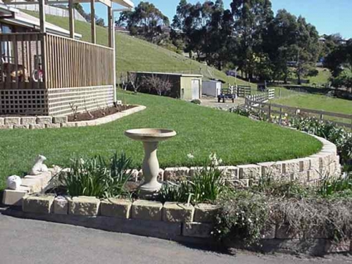 Blocks and level lawn