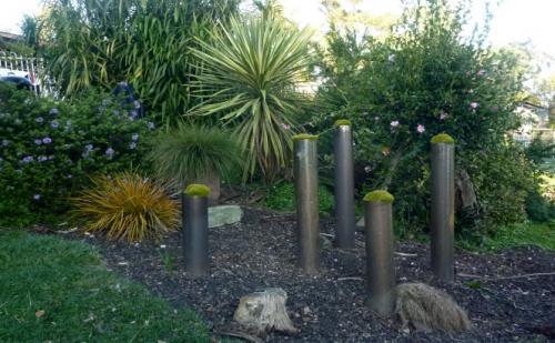 pipes garden feature tasmania nw